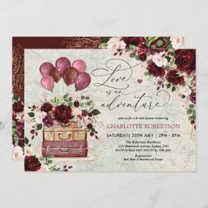 Vintage Travel Bridal Shower Love is an Adventure Invitation starting at 2.66