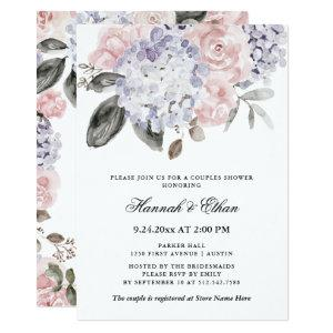 Vintage Watercolor Hydrangeas | Couples Shower Invitation starting at 2.66