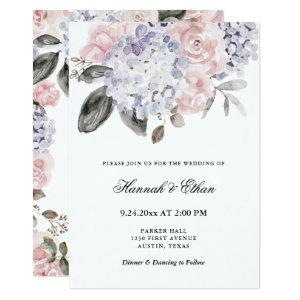 Vintage Watercolor Hydrangeas | Floral Wedding Invitation starting at 2.66