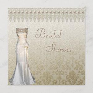 Vintage Wedding Gown Pearls & Lace Bridal Shower starting at 2.51