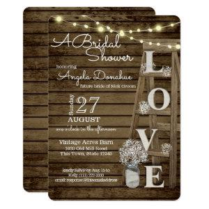 Vintage Wood Ladder Bridal Shower Invitation starting at 2.81