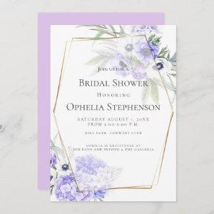 Violet Hydrangea and Anemone Floral Bouquet Invitation starting at 2.51