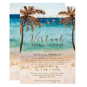 virtual shower by mail beach bridal shower invitation starting at 2.56