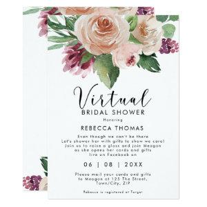 virtual shower by mail floral bridal shower invitation starting at 2.56