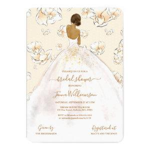 Watercolor African American Bride Bridal Shower Invitation starting at 2.60