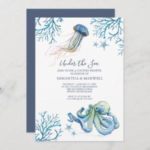 Watercolor Baby Shower Invitation Under The Sea starting at 2.45