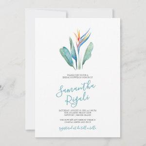 Watercolor Bird of Paradise Bridal Shower starting at 2.40