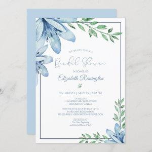 Watercolor Blue Floral Blooms Bridal Shower Invitation starting at 2.40