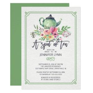Watercolor Bridal Shower Spot of Tea Shower Invite starting at 2.15