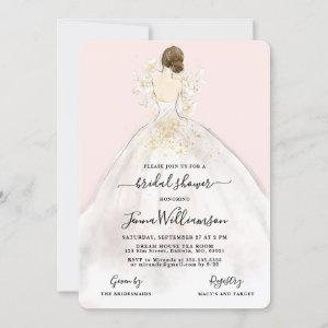 Watercolor Bride in Gown Bridal Shower starting at 2.60