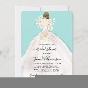 Watercolor Bride in Gown Bridal Shower Invitation starting at 2.60