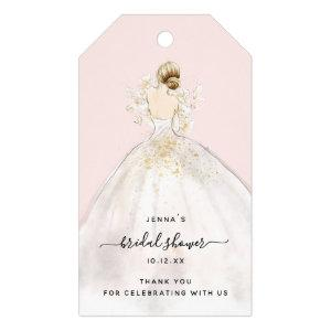 Watercolor Bride in Gown Bridal Shower Invitation  Gift Tags starting at 9.45