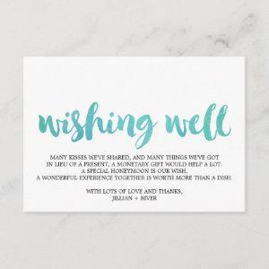 Watercolor Calligraphy Beach Wedding Wishing Well Enclosure Card starting at 1.91