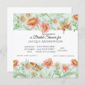 Watercolor Coral Mint Ivory Floral Bridal Shower starting at 2.40