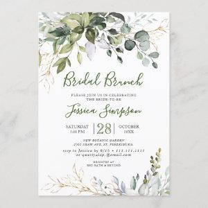 Watercolor Eucalyptus Greenery Bridal  Brunch Invitation starting at 2.35