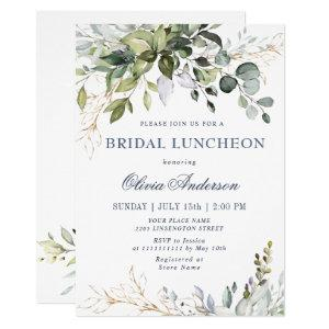 Watercolor Eucalyptus Greenery BRIDAL LUNCHEON Invitation starting at 2.35