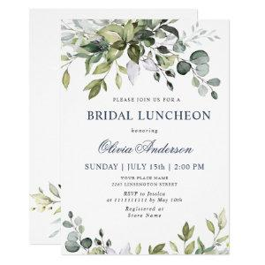 Watercolor Eucalyptus Greenery BRIDAL LUNCHEON Invitation starting at 2.10