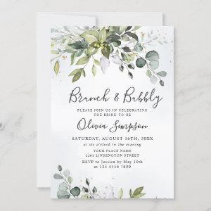Watercolor Eucalyptus Greenery Brunch & Bubbly Invitation starting at 2.35