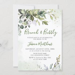 Watercolor Eucalyptus Greenery Brunch & Bubbly Invitation starting at 2.30