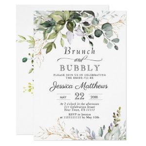 Watercolor Eucalyptus Greenery Brunch & Bubbly Invitation starting at 2.25