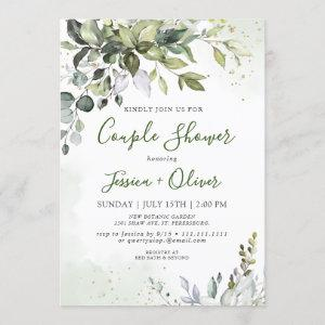 Watercolor Eucalyptus Greenery Couple Shower Invitation starting at 2.25