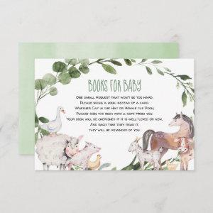 Watercolor farm animals books for baby enclosure card starting at 2.01