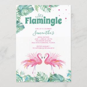 Watercolor Flamingo Bridal Shower Invitation starting at 2.35