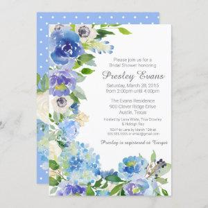 Watercolor Floral Anemone Hydrangea Bridal Shower Invitation starting at 2.70