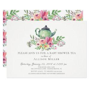 Watercolor Floral Baby Tea Party Invitation starting at 2.40