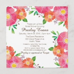 Watercolor Floral Bridal or Baby Shower Invitation starting at 2.51