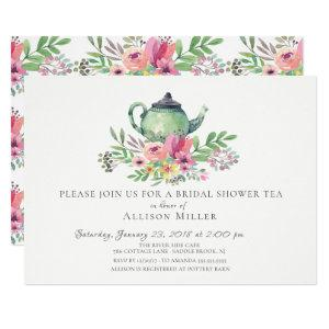 Watercolor Floral Bridal Tea Party Invitation starting at 2.15