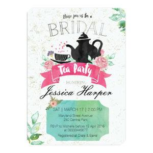 Watercolor Floral Bridal Tea Party Invitation starting at 2.86