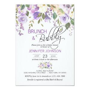 Watercolor Floral Lavender Purple Bridal Brunch Invitation starting at 2.15