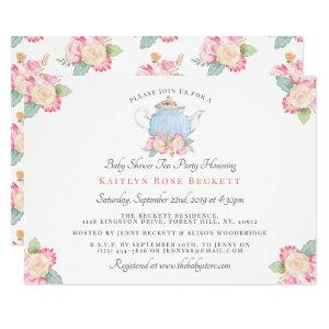 Watercolor Floral Tea Party | Baby Shower Invitation starting at 2.40