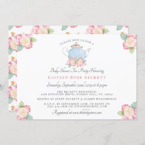 Watercolor Floral Tea Party | Baby Shower Invitation starting at 2.35