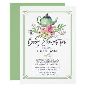 Watercolor Floral Tea Party Neutral Baby Shower Invitation starting at 2.40