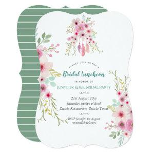 Watercolor Flower Bridal Luncheon Pink Boho Invite starting at 2.61