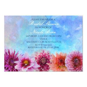 Watercolor Flowers Modern Floral Bridal Shower Invitation starting at 2.66