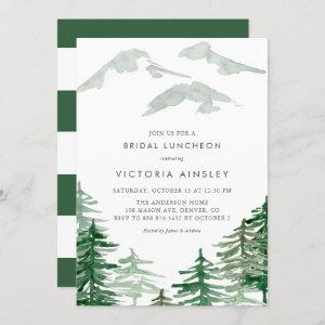 Watercolor Forest Winter Woodland Bridal Luncheon Invitation starting at 2.40