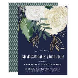 Watercolor & Glitter Roses Bridesmaids Luncheon Invitation starting at 2.51