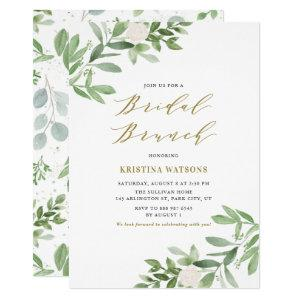 Watercolor Greenery and Flowers Bridal Brunch Invitation starting at 2.15