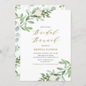 Watercolor Greenery and Flowers Bridal Brunch Invitation starting at 2.40
