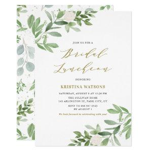 Watercolor Greenery and Flowers Bridal Luncheon Invitation starting at 2.15