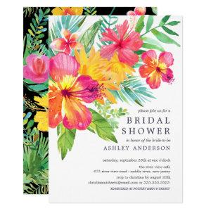 Watercolor Hibiscus Tropical Bridal Shower Invitation starting at 2.15