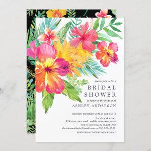 Watercolor Hibiscus Tropical Bridal Shower Invitation starting at 2.40