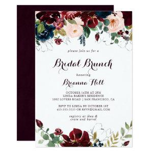 Watercolor Illustrated Bridal Brunch Bridal Shower Invitation starting at 2.51