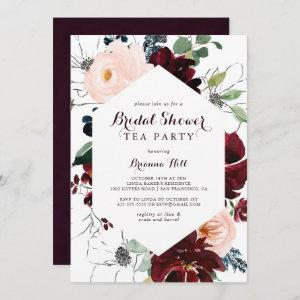 Watercolor Illustrated Bridal Shower Tea Party Invitation starting at 2.51