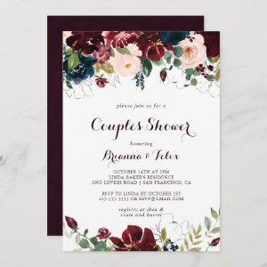 Watercolor Illustrated Fall Floral Couples Shower Invitation starting at 2.51