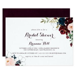 Watercolor Illustrated Horizontal Bridal Shower Invitation starting at 2.51