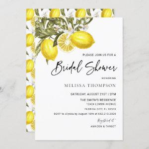 Watercolor Lemon Theme Bridal Shower Invitation starting at 2.50